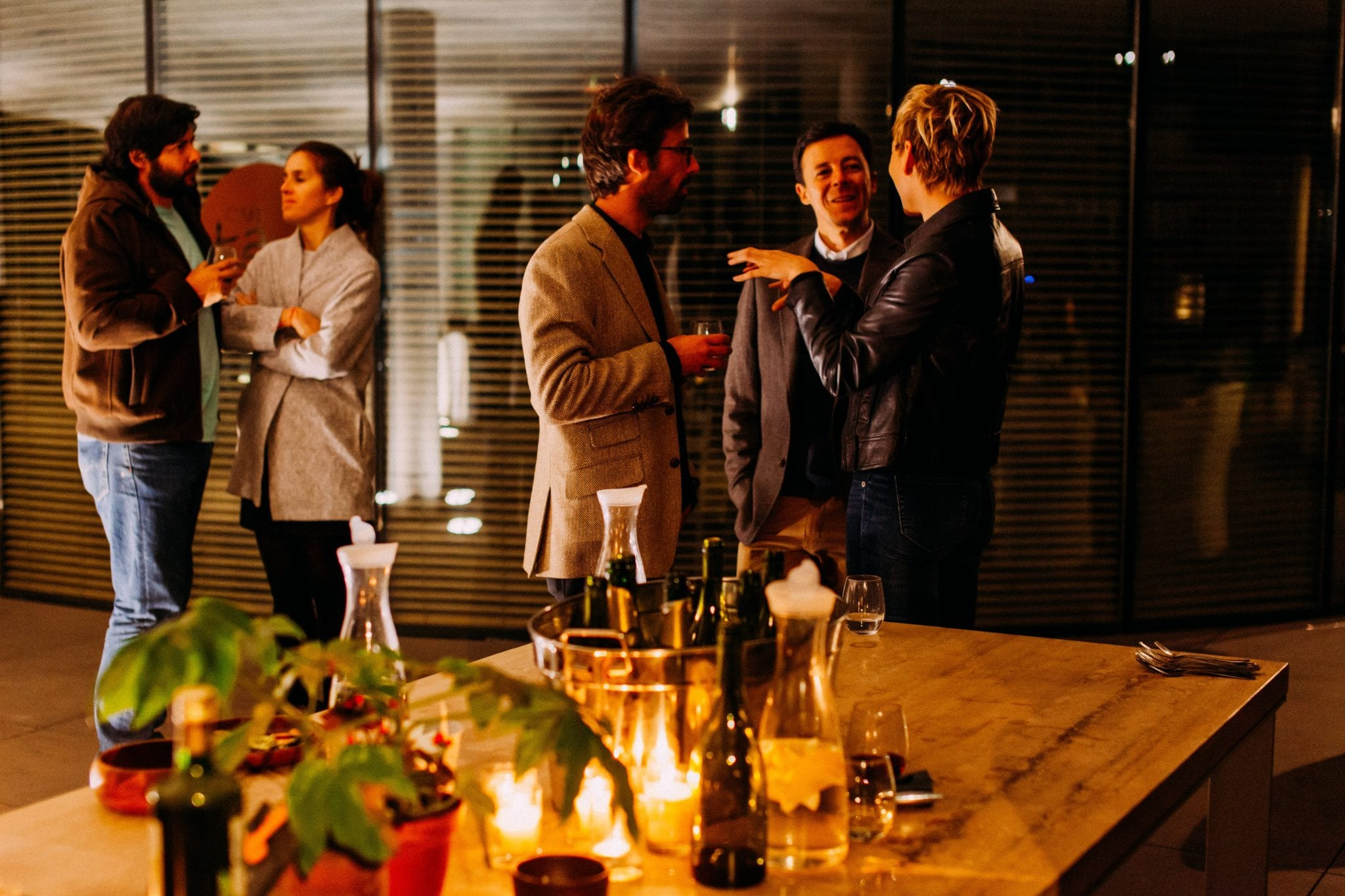 People networking at an event